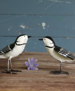 recycled metal wagtails