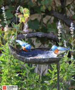 recycled metal bird feeder