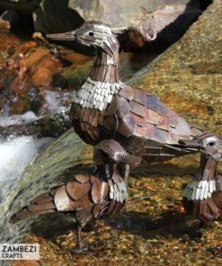 recycled metal ducks