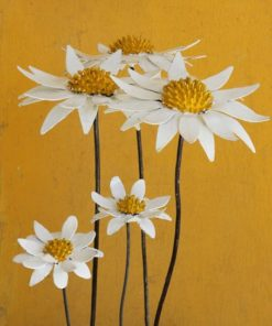recycled metal flowers daisies