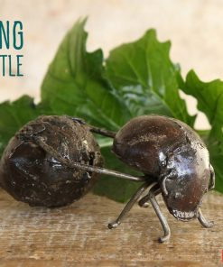 recycled metal dung beetle
