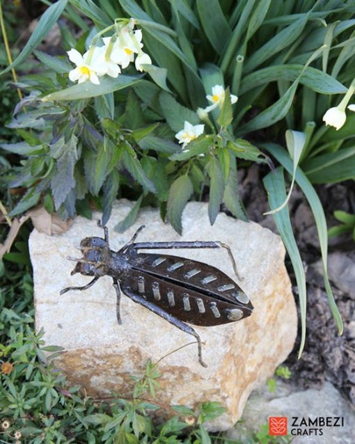 recycled metal grasshopper