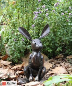 recycled metal hare