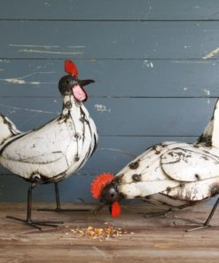 recycled metal hens