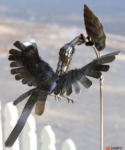 recycled metal hummingbird