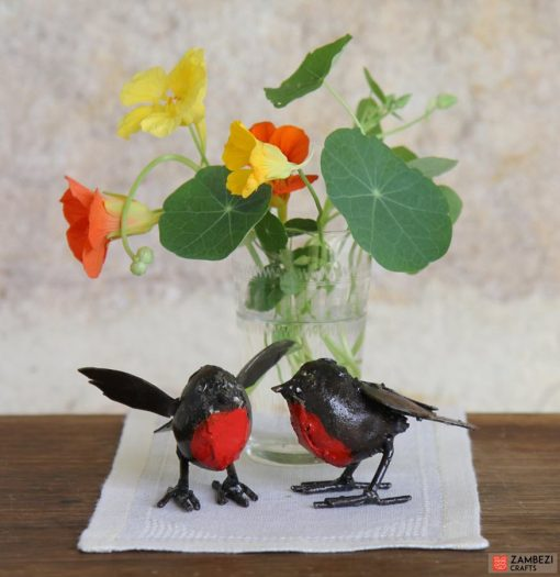 recycled metal robins