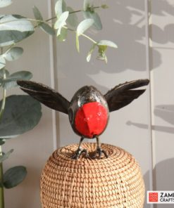 recycled metal robin