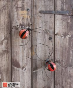 recycled metal spiders