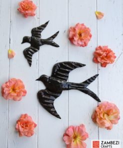 recycled metal swallows